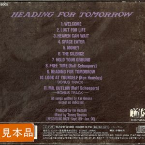 1990 – Heading For Tomorrow – Japan Cd – Promo.