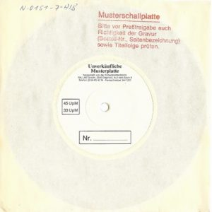 1990 – Heaven Can Wait/Mr. Outlaw – Single 7″ Testpress.