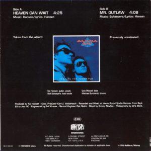1990 – Heaven Can Wait/Mr. Outlaw – Single 7″.