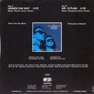 1990 – Heaven Can Wait/Mr. Outlaw – Promo Single 7″.