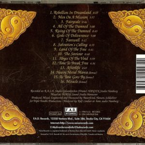 1998 – Land Of The Free – 3 Bonus Tracks -Cd – Usa.