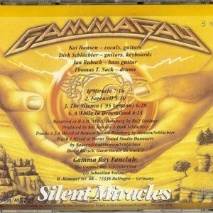 1996 – Silent Miracles – Cds – Korea.