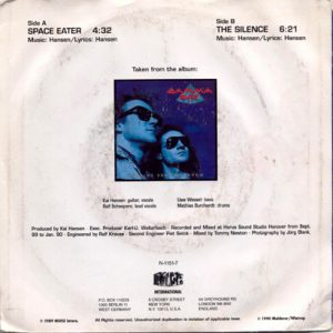1990 – Space Eater/The Silence – Single 7″.