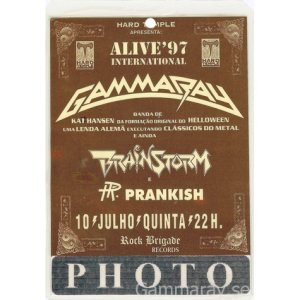 1997 – Somewhere Out In Space – Argentina Tour –  Alive´97  – Photo Pass.