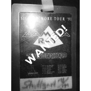 WANTED: 1991 – Sigh No More – Tour 91 – Pass.