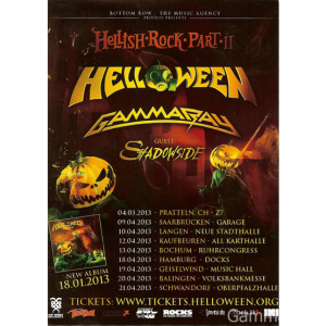 2013 – Hellish Rock Tour 2013 – Flyer.