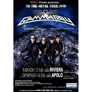 WANTED: 2010 – To The Metal Tour – 13-14/2 -10 – Spain – Flyer.