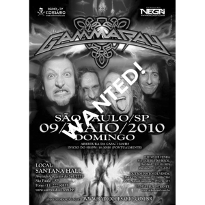WANTED: 2010 – To The Metal Tour – 9/5 -10 – Brazil – Flyer.