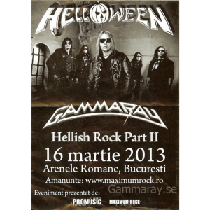 2013 – Hellish Rock Part II – 3 Mars – Romania – Flyer.