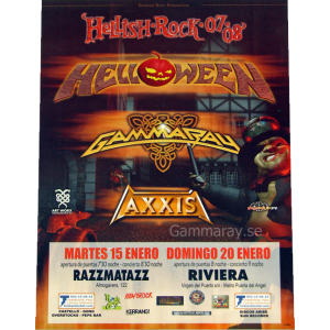 2008 – Hellish Rock Tour 2007/2008 – 15 Jan 08 – Spain – Flyer.