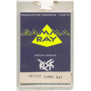 1990 – Headache For Tomorrow Tour90 – Artist Pass.