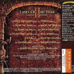2007 – Land Of The Free II – Limited First Edition – Cd – Japan – Promo.