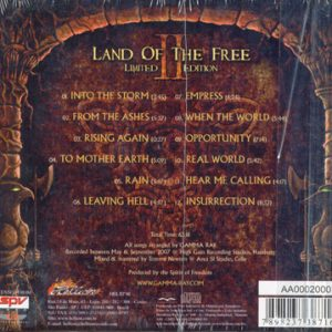 2007 – Land Of The Free II – Limited First Edition Cd – w/beer mat – Brazil.