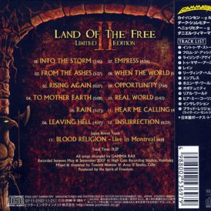 2007 – Land Of The Free II – Limited First Edition – Cd – Japan.