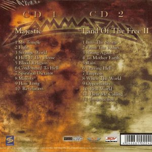 2011 – Majestic & Land Of The Free II – 2 Cd Set.