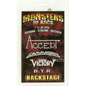 2005 – Monsters Of Rock Pass – 27/8 – Bulgaria.