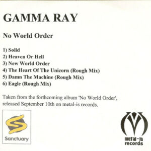 2001 – No World Order – Promo Cd-r.