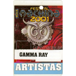 2001 – Machina Festival Pass – 28/7 – Italy.