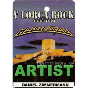 2002 – V Lorca Rock Festival Pass – 13/7 – Spain.