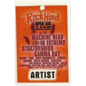2004 – Rock Hard Open Air Festival Pass – 28/30-5 – Germany.