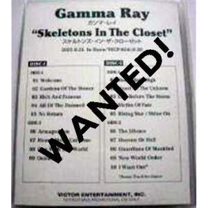 WANTED: 2003 – Skeletons In The Closet – 2Tape – Japan Promo.