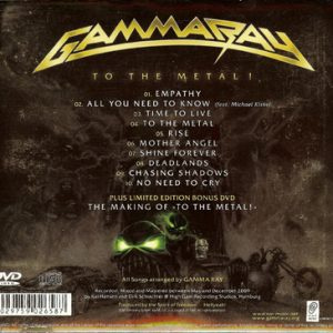 2010 – To The Metal – Cd – Plus Limited Edition Bonus DVD – Mexico.