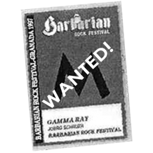 WANTED: 1997 – Barbarian Rock Festival Pass (Canceled).
