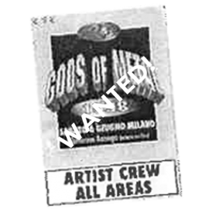 WANTED: 1998 – Gods Of Metal Pass.