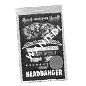 WANTED: 1997 – Bang Your Head Festival Pass – 13/9.