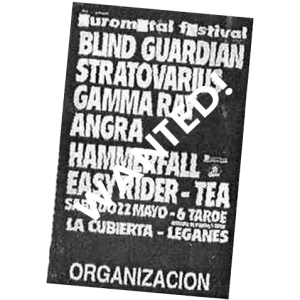 WANTED: 1999 – Euro Metal Festival – Spain – Poster.