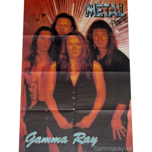 Poster From Metal Shock With Discography On The Back.