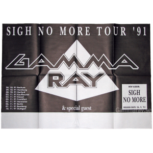 1991 – Sigh No More Tour Poster.