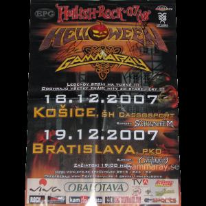 2007 – Hellish Rock Tour 07 – Slovakia Tour – Poster.