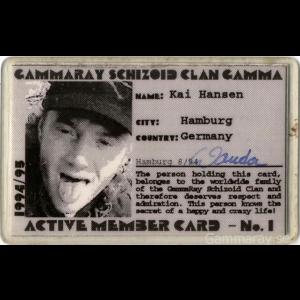 Kai Hansens Schizoid Clan Member Card 94/95.