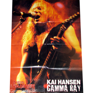 Big Kai Hansen Poster From Metal Hammer Magazine.