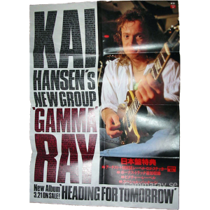 1990 – Heading For Tomorrow – Kai Hansen – Japan Promo Poster.