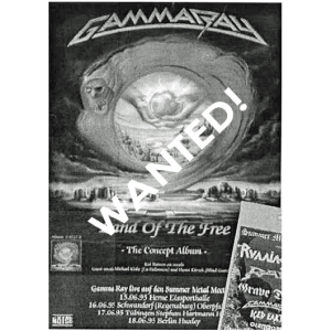 WANTED: 1995 – Land Of The Free – Summer Metal Meetings Tour.