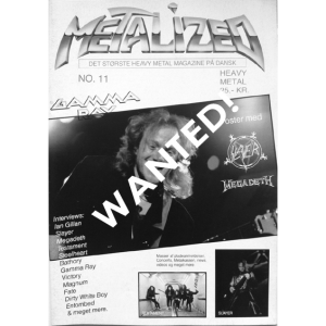 WANTED: Metalized – Danish Magazine – Nr11 – 1990.