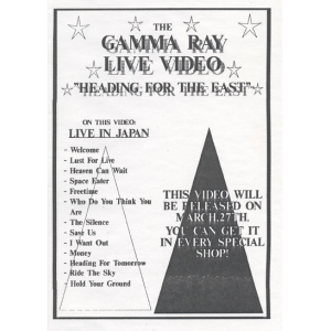 Promo Sheet For The Heading For The East Video.