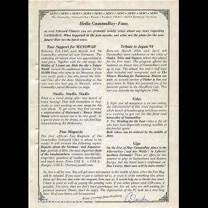 News Sheet – 1994.