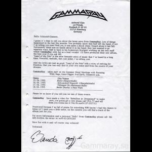 News Sheet – 1995.