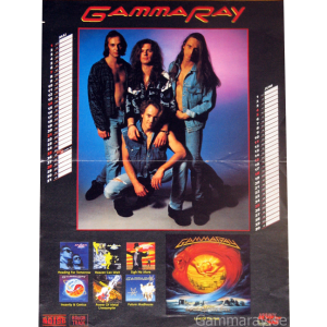 Gamma Ray Calendar Poster – 1995.