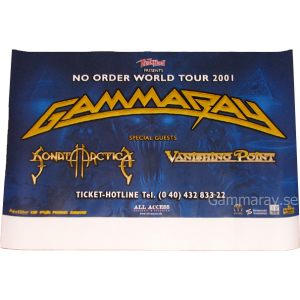 2001 – No Order World Tour 2001 – Poster.