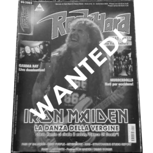 WANTED: Rock Hard Magazine – Italy Nr14 – 2003.
