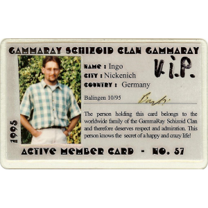 Schizoid Clan Member Card – 1995.