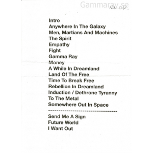 Setlist – Winter Masters Of Rock – 2011-11-26 – Czech Republic.