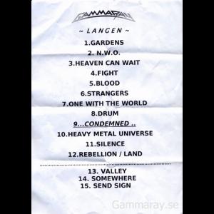 Setlist – Langen – 2005-10-15.
