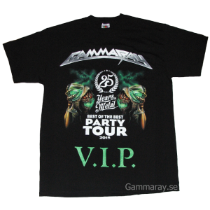 Best Of The Best Party Tour – 25 Years in Metal – VIP – T-shirt.