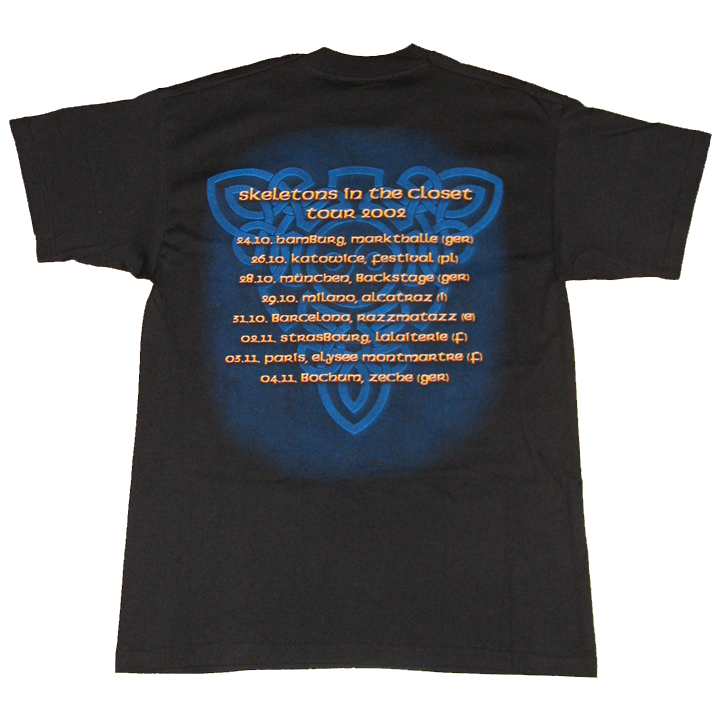 Skeletons In The Closet – Tour 2002 – T-shirt  – My Gamma