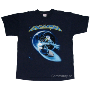 Surfang Out In Space – Blue T-shirt.